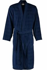 Cawö Uomo Accappatoio Vestaglia Sauna Kimono Blu 3807 133 Ex
