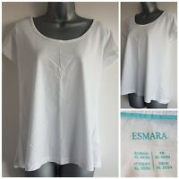 Size 22/24 Top ESMARA White Casual Cotton Excellent Condition Women's