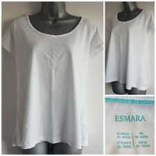 Size 22/24 Top ESMARA White Casual Cotton Excellent Condition Women's