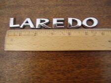 Jeep LAREDO letters badge emblem OEM chrome