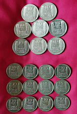 20 x 10 Argent & Cuivre Nickel Francs Turin