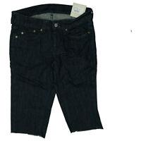 Pepe Jeans Damen Sommer stretch 3/4 Hose Short Bermuda Capri W27 Dunkelblau NEU