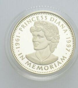 Künker: Liberia, 50 Dollar 1997, In Gedenken an Prinzessin Diana, 7,8g Gold, PP!