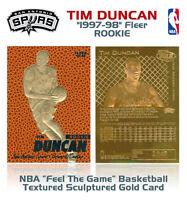 1997 TIM DUNCAN Fleer ROOKIE *Feel The Game* GOLD Card