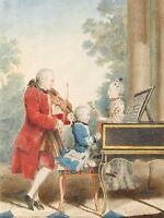PRINT POSTER PAINTING PORTRAIT CLASSICAL COMPOSER MOZART PIANO GENIUS NOFL0074