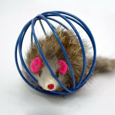 Kitten Funny Pet Cat Rat Cage Playing Toys False Mouse Ball
