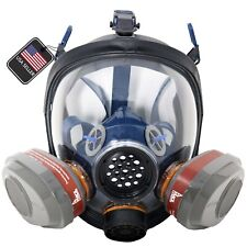 In Stock PD 101 Full Face Respirator ASTM P-A-3 Dual Activated Charcoal Filters