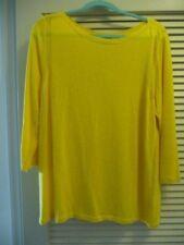 Talbots Yellow Linen Blend Pullover Size XL NWT