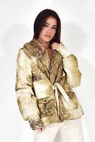 JUST CAVALLI Giubbino Capispalla Multicolore Elegante TG XL UK 15 Donna Woman