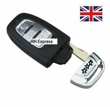 For 3 BUTTON SMART REMOTE KEY CASE WITH BLADE FOR AUDI A3 A4 A5 A6 A7 & Logo A13