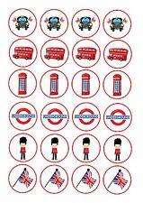 24 glaçages pour gâteau glaçage décoration mélangé Londres Bus CAB ND2 boîte de téléphone drapeau