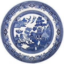 CHURCHILL BLUE WILLOW 6 DINNER PLATES 26cm - NEW/UNUSED