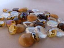 100 x Glass  Pebbles / Nuggets / Stones / Gems - Caramel Mix