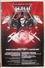 SKRILLEX 2011 Gig POSTER Albuquerque New Mexico Concert