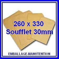 ~~ 25 ENVELOPPES KRAFT SOUFFLET  260 x 330mm  ~~