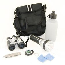 Camping Hiking Set w Bag Binoculars,Knife,Compass,Flashlight,Water Bottle Camp