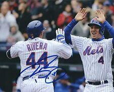 Signed  8x10 RENE RIVERA New York Mets Autographed photo - COA