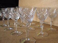 11 Verres à vin blanc en CRISTAL taillé de Nachtmann qualité Baccarat