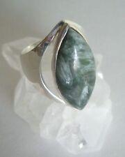 Ring mit Serafinit , 925er Silber, Gr. 17,2 - Klinochlor