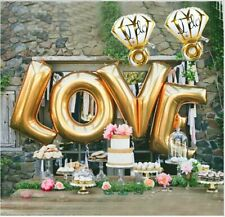 "I Do & Love Foil Mylar Balloon Set ~ 27"" 40"" ~Engagement Ring Balloons"