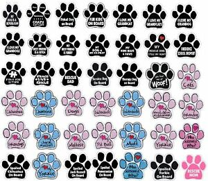 """Paw Magnet (Choose Your Design) Dogs Cats 5.5"""" x 5.5"""" Shaped Heart Car Auto Gift"""