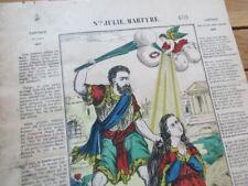 IMAGE D' EPINAL PELLERIN 1900 SAINTE JULIE MARTYRE RELIGIEUX VOSGES