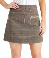 Polyester Checked Straight, Pencil Skirts for Women