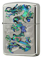 Zippo Armor Case Rampage Dragon Shell Inlay Oxidized Silver Plating Japan F/S