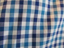 Esquire Blue Check Slim Fit Shirt Long Sleeve Button Front Mens 17 34/35