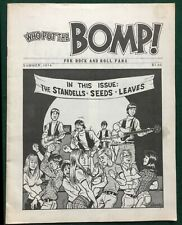 WHO PUT THE BOMP #12 ~ US 1974 Greg Shaw Fanzine/Magazine. The Standells, Seeds