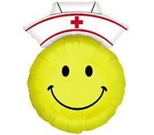 """XL 28"""" Smiley Face Nurse Super Shape Mylar Foil Balloon Party Decoration"""