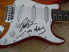 Phil Lewis L.A. Guns Signed Autographed Guitar NO MERCY Lyrics PSA Guaranteed for sale