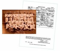 Ty Cobb DEATH CERTIFICATE +1907 Detroit Tigers Team Photo,Hall of Fame Baseball