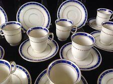 Vintage Set of 12 Blue & White Demitasse Tea Cups & Saucers PIRKENHAMMER CZECH