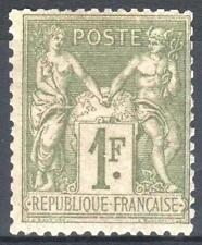 """FRANCE STAMP TIMBRE YVERT N° 82 """" SAGE 1F OLIVE CLAIR 1883 """" NEUF xx TB   M962"""
