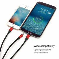 IK- USB Charging Cable Universal 3 in 1 Multi-Function Cell Phone Charger Cord C