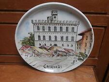 Piatto ceramica CHIAVARI dipinto a mano firmato 21 cm ceramic dish GENOVA