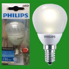 2x 3W Philips DIMMABLE Top Quality LED Golf Light Bulbs, SES E14 Lamp Globe