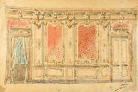 Modern Vintage Drawing - Dessin Ancien - Decoration, Architecture