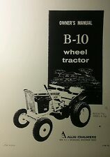 Allis Chalmers B-10 Garden Tractor & Implements Owner & Parts (3 Manuals) 34pg