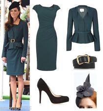 Gorgeous L.K.BENNETT Teal Green Davina Wiggle Pencil Dress UK 16 US 12 ASO