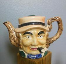 """Vintage Toby Covered Tea Pot Man with Pipe Japan Hand Painted 5"""""""