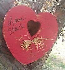 """Love Shack"" Large Heart Red Birdhouse"