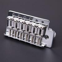 For Fd Strat 1 Set 6 Strings Chrome Guitar Tremolo Bridge With Bar Guitar Parts