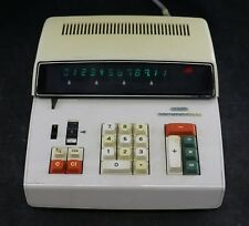 Vtg 1970s Commodore 412F Desktop Calculator -Green Individual Vfd Tube Display