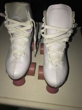 Skates Chicago Girls Classic Roller White Rink Size 3 Outdoor Durable Used