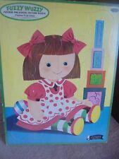 Vtg Whitman Flocked Fuzzy Wuzzy 1961 Girl Doll Polka Dots Tray Puzzle Complete