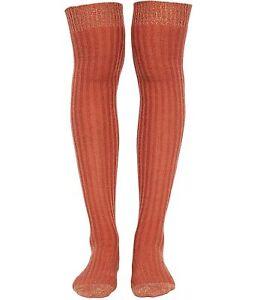 Free People Womens Wildest Dreams Midweight Socks, Orange, One Size