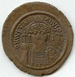 JUSTINIAN 1 (527-565 AD) Large 40mm AE Follis of NIKO S201 SUPERB MUSEUM QUALITY
