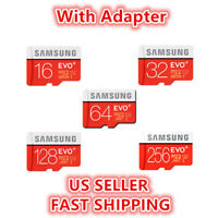 SAMSUNG EVO Plus 16 32 64 128GB MicroSD Class 10 Flash Memory Card w/ SD Adapter